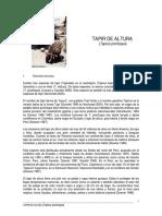 Ficha Tapir Pinchaque