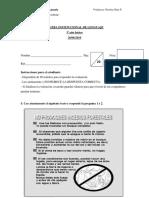 prueba institucional de lenguaje -3º básico