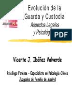 Vicente Ibañez Evolución de La Guarda y Custodia - Aspectos Psicológicos