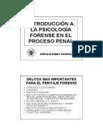 Esbeq Introducción a La Psicología Forense en El Proceso Penal