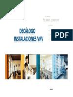 Daikin Decálogo VRV