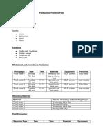 Production Process Plan New