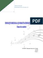 Teme Ed. Muzicala-ruxandari Ioana (Cas. Gavrila), Anul III, Gr 1