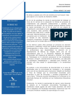 Carta de Presentacion Del Perfil