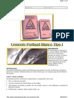 Cemento Portland Blanco