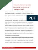 MODELADO DE TURBULENCIA LOCALMENTE HOMOGÉNEA MEDIANTE TÉCNICAS DE HOMOGENIZACIÓN