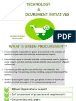 Role of Technology in Green Procurement