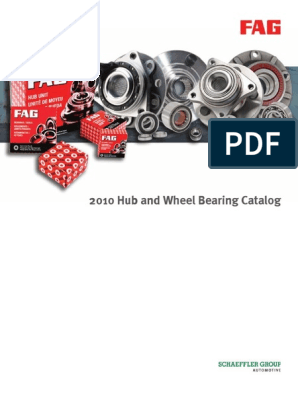 Hub And Wheel Bearings Fag 2010 Sport Utility Vehicle Van