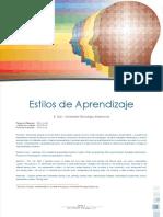 Estilos de Aprendizaje y Su Aplicación en La Práctica Pedagógica