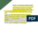 1. Planeacion Del Desarrollo en Mexico