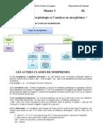 Suite Du TD -Morphologie Et Analyse en Morphèmes