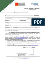 Formato n 1 Modelo de Solicitud Inscripcion Internado 2019 II