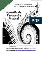 [Cliqueapostilas.com.Br] Apostila de Percepcao Musical