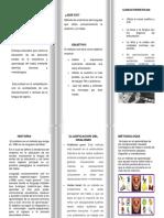 folleto oralismo