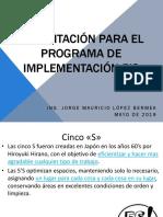 Capacitación PARA EL Programa de Implementación 5's Impresión