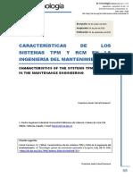 tpm y rcm caracteristicas