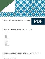 Teaching Mixed Ability Classes, Foro 2