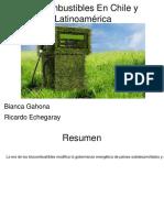 Biocombustibles en Chile y Latinoamérica