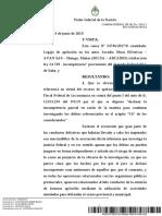 RESOLUCIÓN DE CÁMARA CONFIRMA INCOMPETENCIA PARCIAL