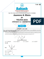 WBJEE-2019 Physics & Chemistry_Ans & Hints (Dt 26-05-2019)