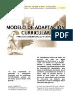 Modelo de Adaptación curricular para alumnado de alta capacidad