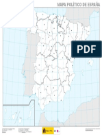 Mapa Politico de Espana Mudo 1 3.000.000