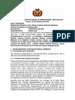 Sentencia Constitucional Plurinacional 0237-2016-s3
