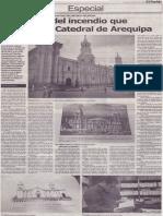 La historia del incendio que destruyó la Catedral de Arequipa