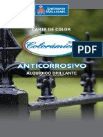 Carta de Color Colorámica Anticorrosivo