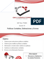 Presentación NIC 8-Politicas Contables SECCIÓN 10 PYMES.