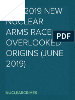 Overlooked Origins of a New Nuclear Arms Race--June 2019-- [Wise Up!]