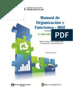 Manual de Organización y Funciones MOF 2013