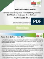 OT Avances Concretos Para La Sostenibilidad y Acciones Del MINAM en El Ejercicio de Su Rol Rector