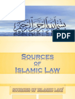 Sources of Islamic Law f