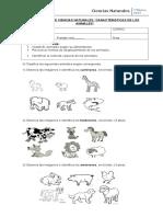 Evaluación Los Animales Junio