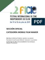 42 Festival Internacional de Cine Independiente de Elche. Sección Oficial. Mobile Film Maker