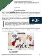27-05-2019 Anuncia Astudillo Entrega de Fertilizante Gratuito Para Productores de Guerrero.
