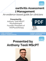 Knee Osteoarthritis Assessment Management Presentation Slides