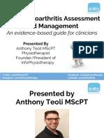 Knee Osteoarthritis Assessment Management Presentation Slides
