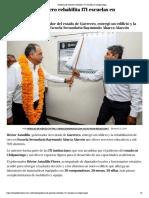 27-05-2019 Gobierno de Guerrero Rehabilita 171 Escuelas en Chilpancingo.