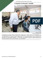 28-05-2019 Mejoras en escuelas para impulsar la educación