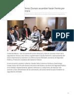 04-06-2019 Gobernadora y Alfonso Durazo Acuerdan Hacer Frente Por La Seguridad en Sonora-Opinion Sonora