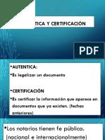 Autentica y Certificación