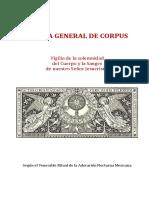 VIGILIA GENERAL DE CORPUS