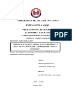 """""""Implementación de Un Sistema de Facturación en La Junta de Agua Potable de La Parroquia El Tingo La Esperanza"""""""