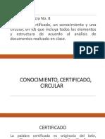Certificado, Circular, Conocimiento