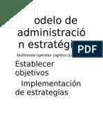 Modelo de Administración Estratégica