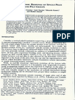 Kinematic Seismic Response of Single Pil