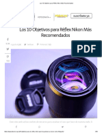 Los 10 Objetivos Para Réflex Nikon Más Recomendados