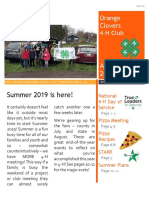 Newsletter 12 April May 2019